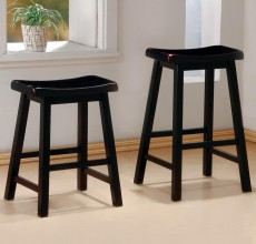 Black Saddle Stools