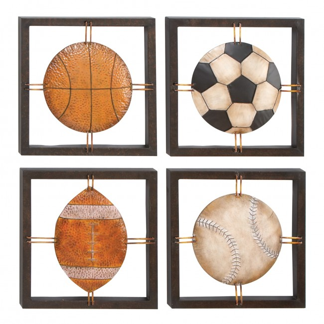 Metal Sports Plaques (4 Assorted)