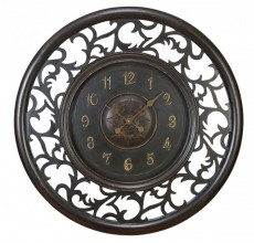 Large Wood Scroll Clock