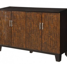 Rustic Front Black Top/Side Credenza