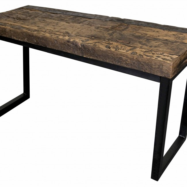 Reclaimed Railroad Wood and Iron Table