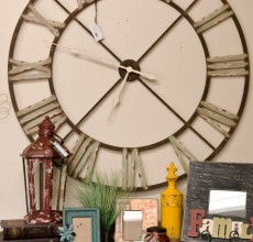 48″ Large Metal Clock