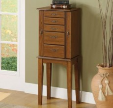 Brown Jewelry Armoire