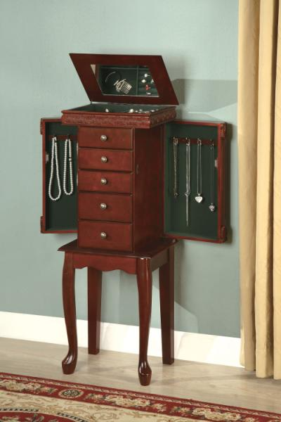 Rich Brown Jewelry Armoire
