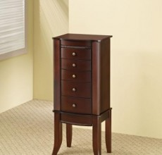 Warm Brown Jewelry Armoire