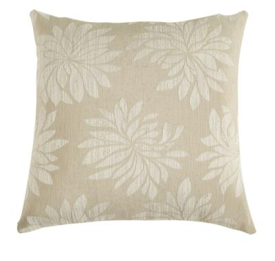 Cream and White Floral Pillow