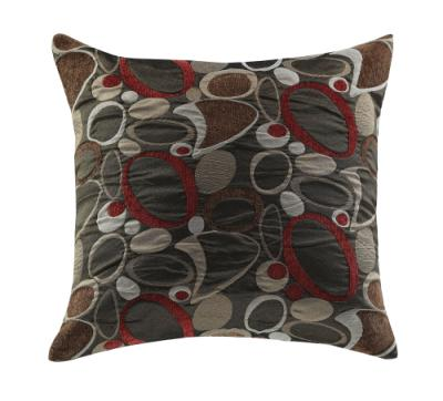 Gray and Red Accent Pillow