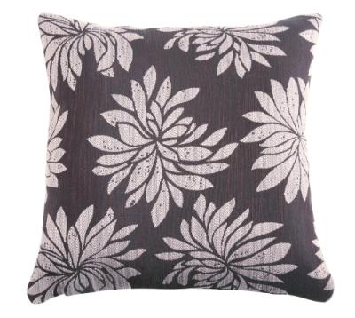 Grey and Purple Accent Pillow