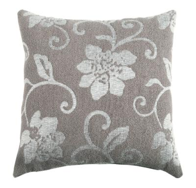 Grey and White Accent Pillow