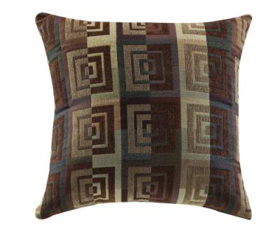 Square Geometric Accent Pillow