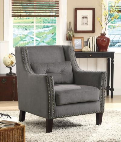 Grey Chinelle Accent Chair