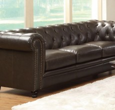 Luke Tufted Leather Sofa