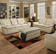 Millie Cream Leather Sofa