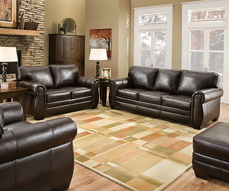 Jackson Dark Brown Leather Sofa