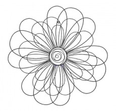 29″ Metal Wall Flower