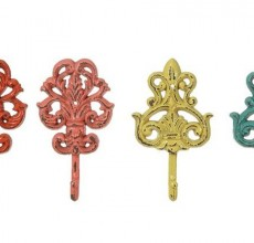 Colored Cast Iron Hooks