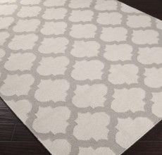 LIGHT GRAY & IVORY RUG