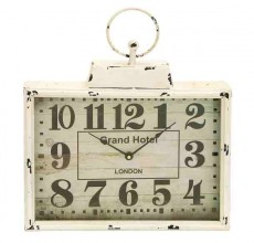 White Square Metal Clock