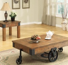 Wheeled Country  Coffee Table