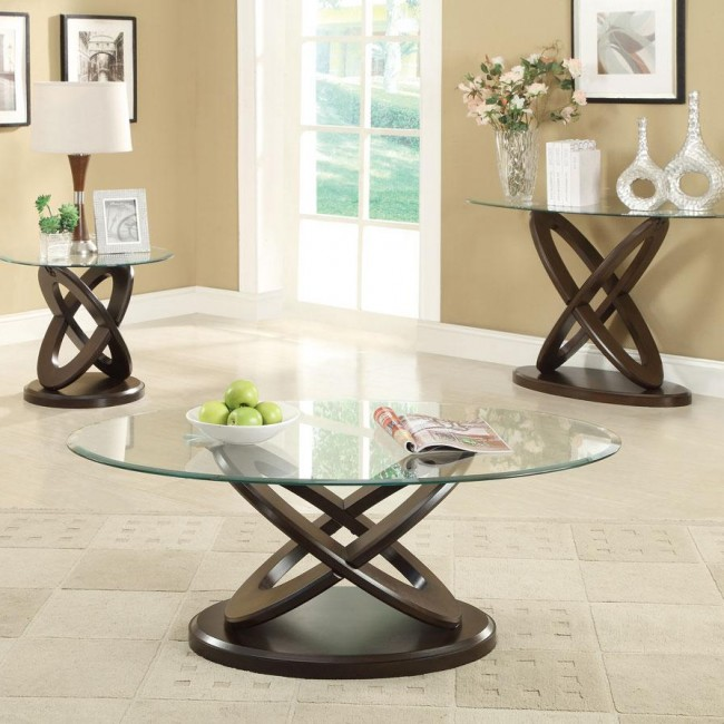 Oval Glass Top Coffee Table Passport Furnishings
