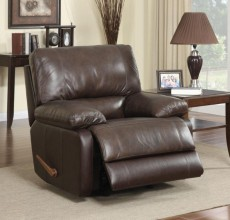 Cognac Leather Recliner