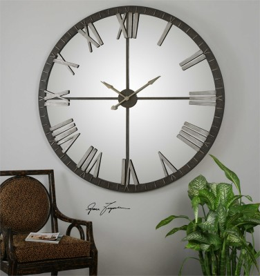 AMELIE LARGE MIRRORED CLOCK