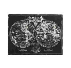 BLACK & WHITE WORLD ART CANVAS