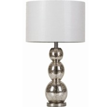 ANTIQUED GLASS LAMP