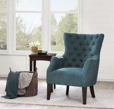 YONNA TUFTED WING CHAIR