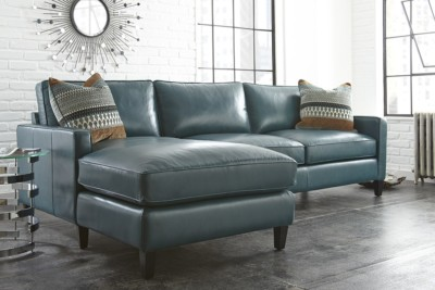 ULYSSES 2 PC LEATHER SECTIONAL (2 COLORS)
