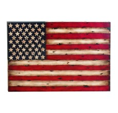 METAL USA WALL FLAG