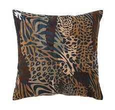 LEATHER SAFARI THROW PILLOW