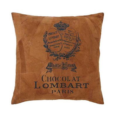 LEATHER CHOCOLAT THROW PILLOW