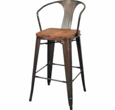 METRO WOOD SEAT BARSTOOL (4 COLORS)