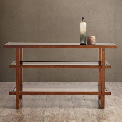 MOE WOOD & GLASS CONSOLE