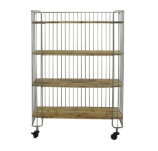METAL & WOOD 'BAKER'S RACK' SHELF