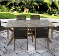 ARIBO 7 PIECE DINING SET
