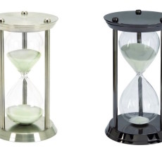 SILVER OR GUNMETAL HOURGLASS