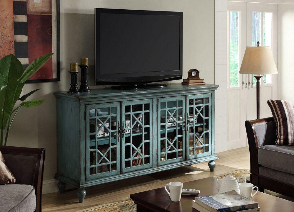 Merveilleux Shannon Large Turquoise Geometric Cabinet