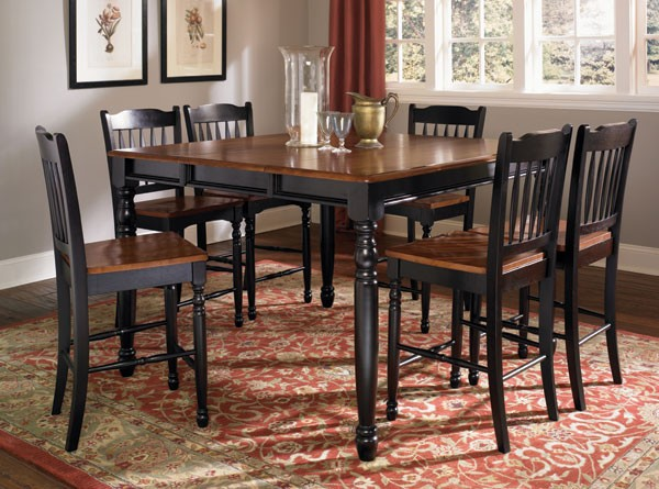 Brittany Black Counter Height Table W/Butterfly Leaf