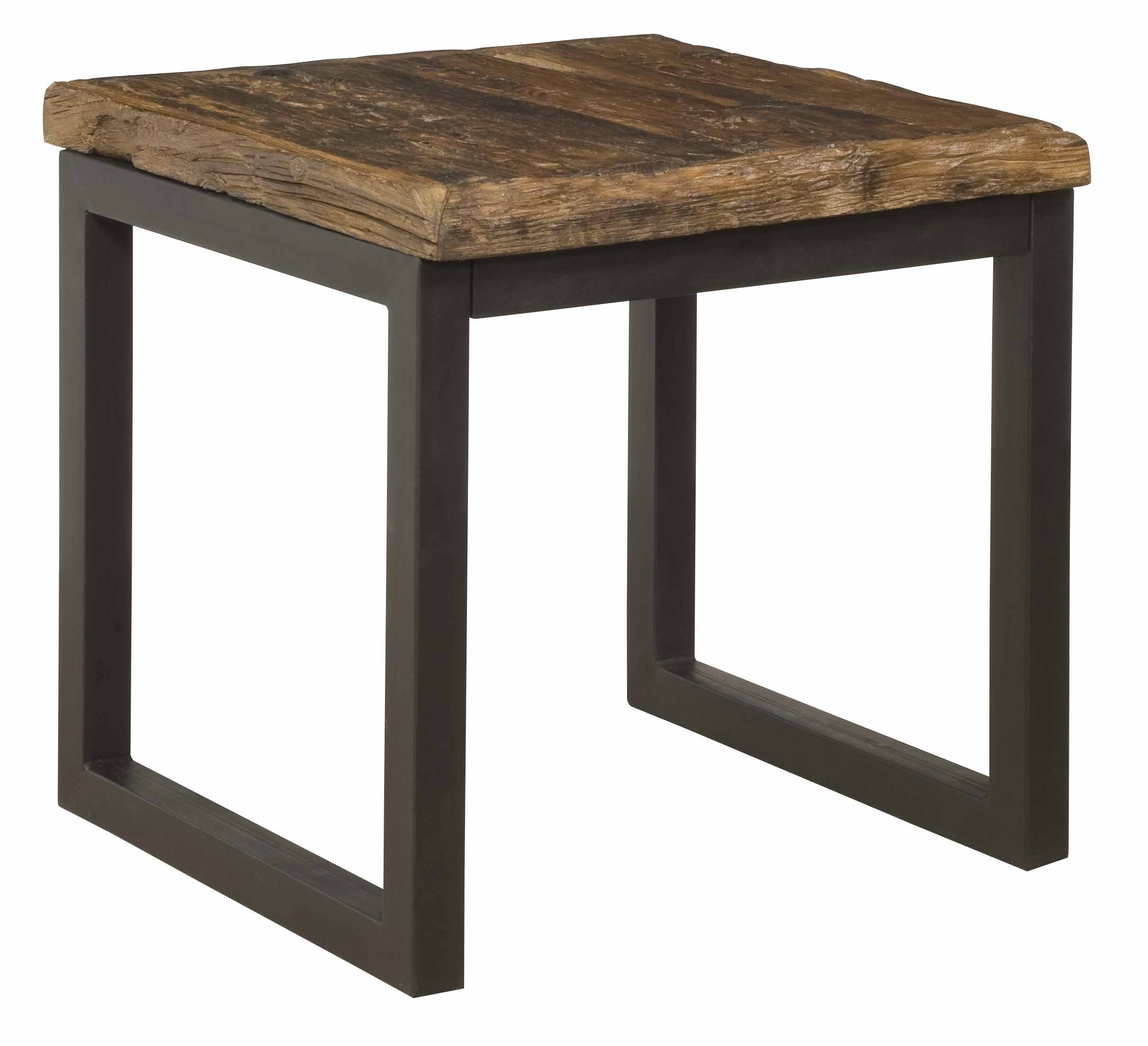 ... Reclaimed Railroad Wood And Iron End Table ...