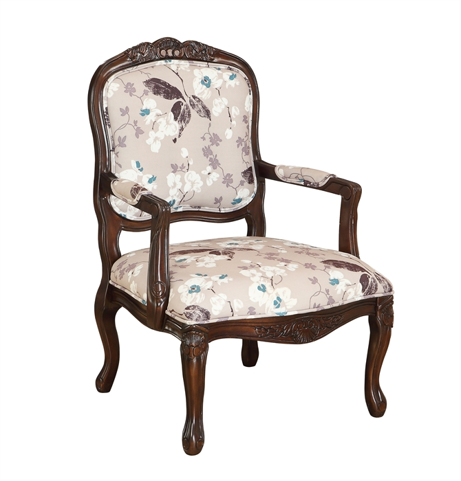 Queen Anne Styled Accent Chair Passport Furnishings